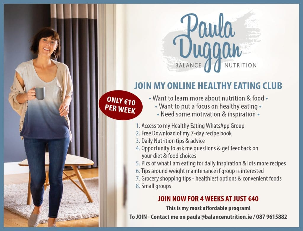 Healthy Eating Club - 4 week program with Paula Duggan