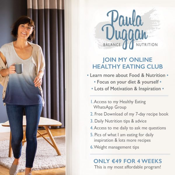 Paula Duggan Balance Nutrition Healthy Eating Club